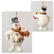 Frosty the Snowman Frosty with Kids Scene on Belly Ornament by Jim Shore