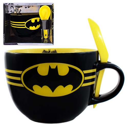 Batman Bats Soup Mug with Spoon