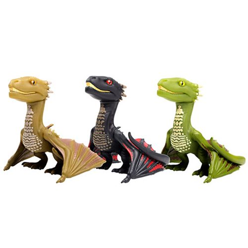 Game of Thrones Young Dragons Glow-in-the-Dark 3-Inch Titan Vinyl Figure 3-Pack - 2019 Convention Ex