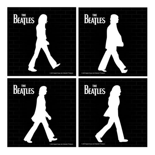 The Beatles Abbey Road Ceramic Coaster 4-Pack