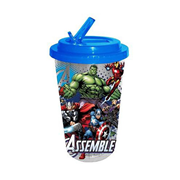 Avengers Assemble 16 oz. Flip-Straw Travel Cup