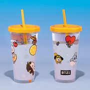 Line Friends BTS BT21 Cup and Straw Travel Cup