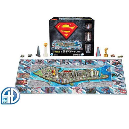 Superman Metropolis Mini 4D Puzzle