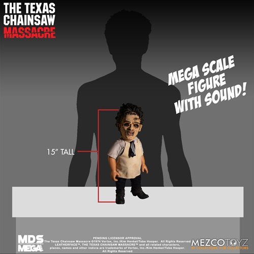 The Texas Chainsaw Massacre Leatherface Mega Scale 15-Inch Doll