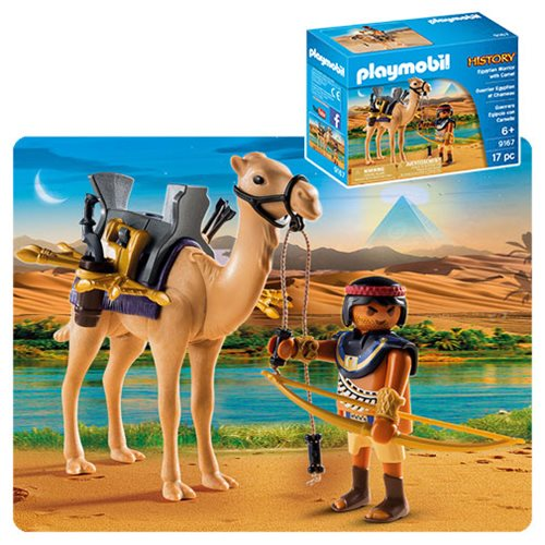 Playmobil 9167 History Egyptian Warrior with Camel Action Figures