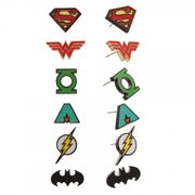 Classic Justice League Earring 6-Pack