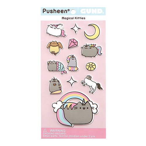 Pusheen the Cat Magical Kitty Puffy Stickers