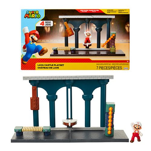 World of Nintendo 2 1/2-Inch Lava Castle Playset