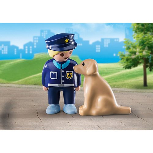 Playmobil 1.2.3 70408 Police Officer with Dog