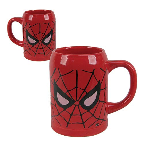 Spider-Man Red Ceramic Stein