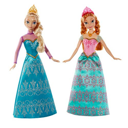 Disney Frozen Princess Sisters Royal Ball Dolls Pack