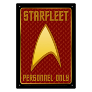 Star Trek Starfleet Personnel Tin Sign