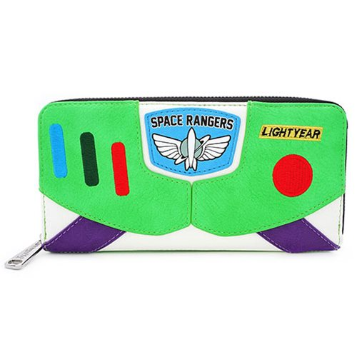 Toy Story Buzz Lightyear Character Zip-Around Wallet