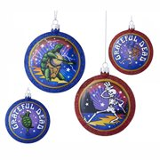 Grateful Dead 3 1/4-Inch Blow Mold Disc Ornament Set