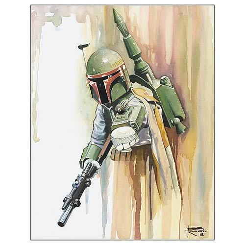 Star Wars Boba Fett Bounty Hunter Collection Art Lithograph