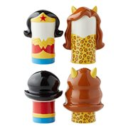 DC Comics Wonder Woman vs. Cheetah Stylized Salt and Pepper Shaker Set