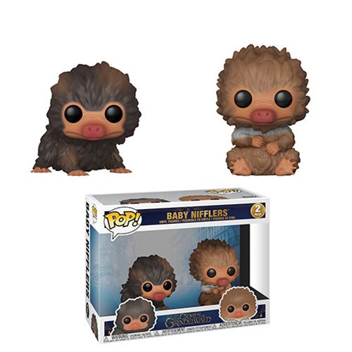 Fantastic Beasts 2 Baby Niffler Brown and Tan Pop! Vinyl Figure 2-Pack