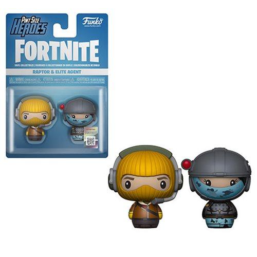 Fortnite Raptor And Elite Agent Pint Size Heroes Mini Figure 2 Pack