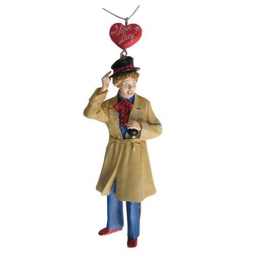I Love Lucy Lucy in Trench Coat 4 2/4-Inch Resin Ornament