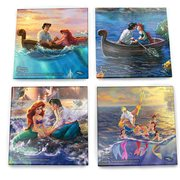 Disney The Little Mermaid Thomas Kinkade StarFire Prints Glass Coaster Set