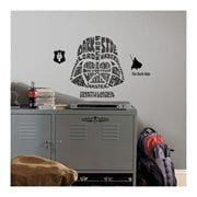 Star Wars Darth Vader Typographic Peel and Stick Giant Wall Decals