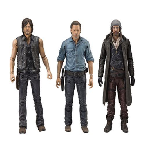 Walking Dead Rick Daryl and Jesus Allies Figures Deluxe Box Set