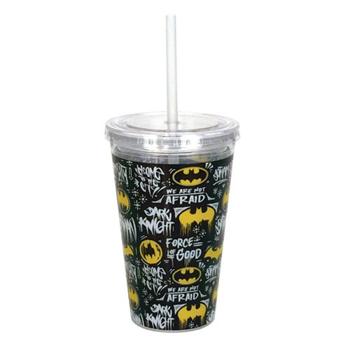 Batman Logo 16 oz. Travel Cup with Straw