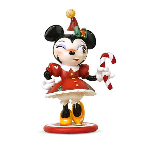 Disney The World of Miss Mindy Christmas Minnie Mouse Statue