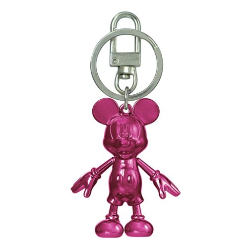 Mickey Mouse July Ruby Pewter Dangle Key Chain