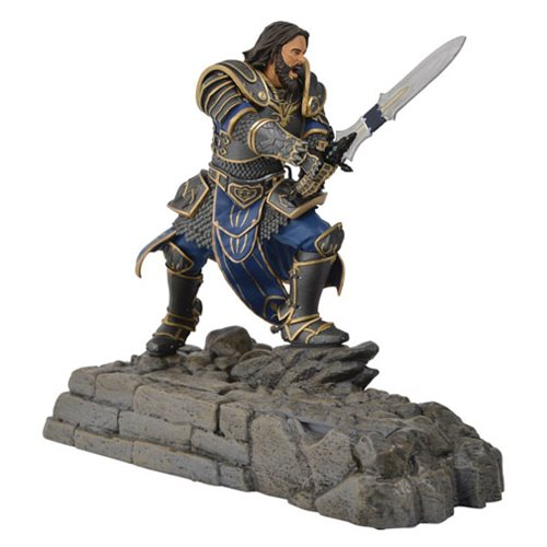Warcraft Lothar Statue Phone Charging Dock