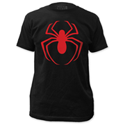 The Amazing Spider-Man Red Arachnid Logo Black T-Shirt