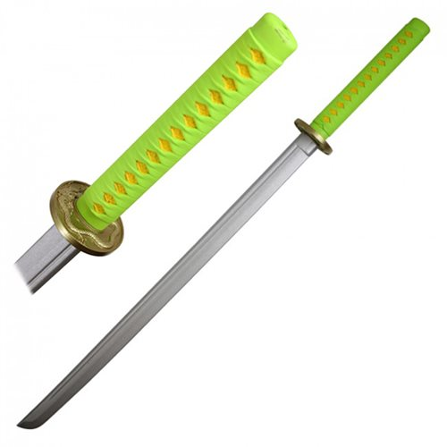 Hero's Edge Green and Yellow Foam Katana
