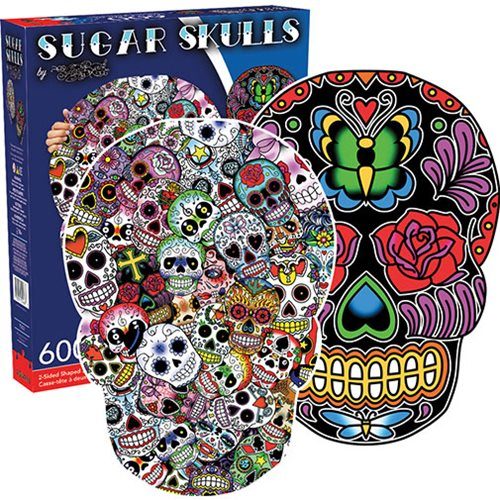 Sugar Skulls 2-Sided Puzzle