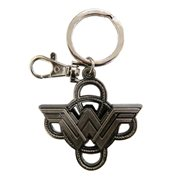 Wonder Woman Logo with Lasso Pewter Key Chain