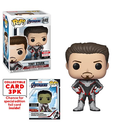 Avengers: Endgame Tony Stark Pop! Vinyl Figure with Collector Cards - Entertainment Earth Exclusive