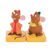 Cinderella Jaq and Gus Sculpted Ceramic Salt & Pepper Set