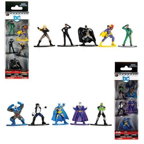 Jada Nano Figures DC Wave 2-5 Pack A Batman Batgirl Riddler Cat Woman Black Ca