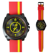 The Flash Red and Yellow Stripe Watch