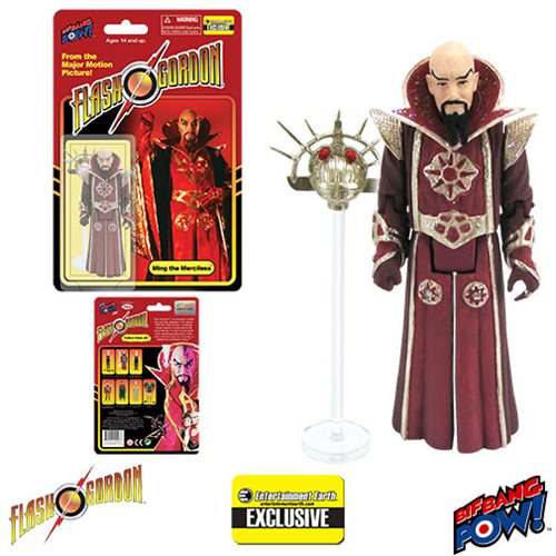 Flash Gordon Ming in Red Robe 3 3/4-Inch Action Figure - Entertainment Earth Exclusive
