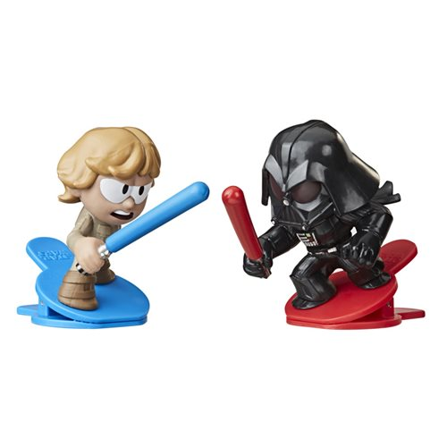 Star Wars Battle Bobblers Showdowns Luke Skywalker vs. Darth Vader Bobbleheads