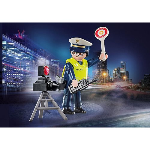 Playmobil 70305 Special Plus Police Officer with Speed Trap Action Figure