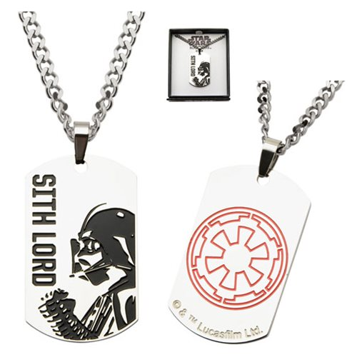 Star Wars Rogue One Darth Vader Sith Lord Dog Tag Necklace