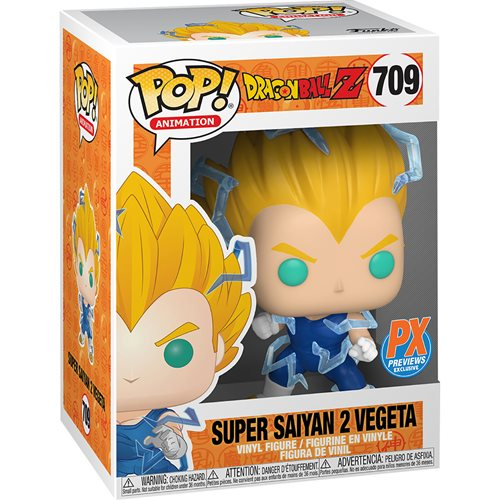 Dragon Ball Super Saiyan 2 Vegeta Pop! Vinyl Figure #709 - Previews Exclusive