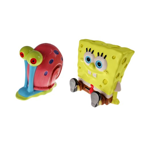 SpongeBob SquarePants SpongeBob and Gary Salt and Pepper Shaker Set