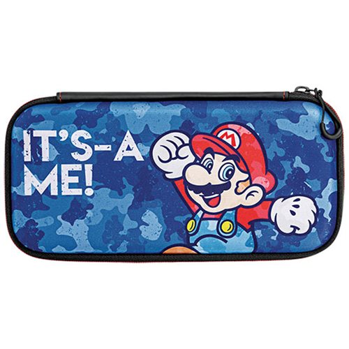 Nintendo Switch Camo Super Mario Bros Mario Slim Travel Case