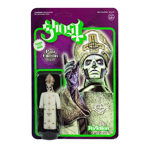 Ghost Papa Emeritus III Glow in the Dark 3 3/4-Inch ReAction Figure