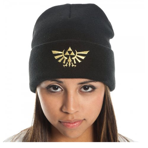 Legend of Zelda Black Cuff Beanie