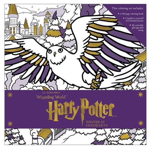 Harry Potter Winter at Hogwarts A Magical Coloring Set Book
