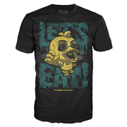 Five Nights at Freddy's Chica Let's Eat Youth Black T-Shirt
