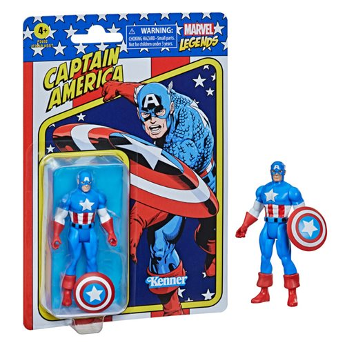 Marvel Legends Retro 375 Collection Captain America 3 3/4-Inch Action Figure, Not Mint